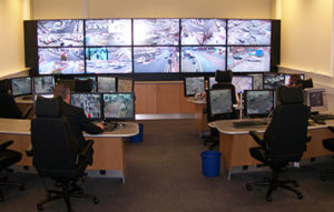 CCTV Control Room Jobsite Security